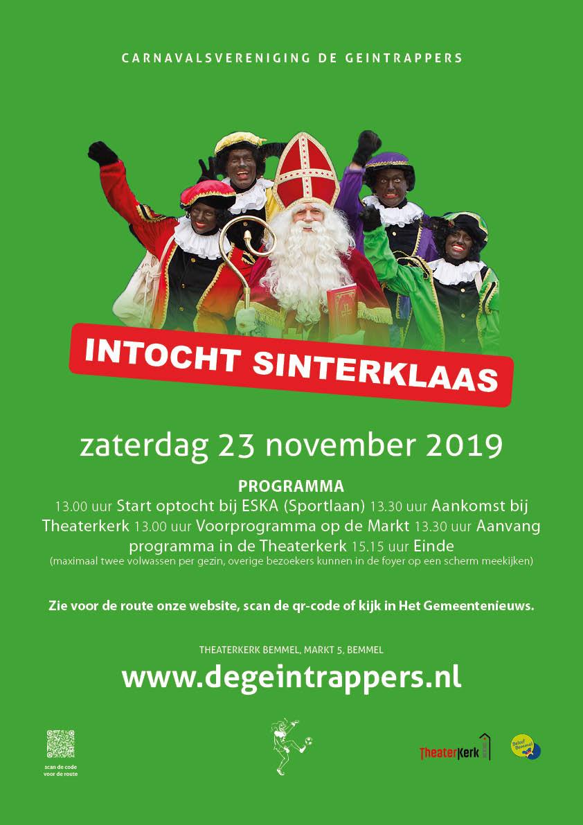 Intocht Sinterklaas 2019 Bemmel Carnavalsvereniging De Geintrappers Bemmel